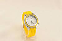 Женские часы CHANEL желтые ремешок каучук