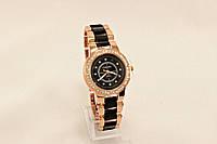 Женские часы CHANEL Черные с золотом (копия)