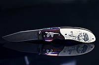 """Авторский складной нож из дамасской стали """"Фазан"""""""