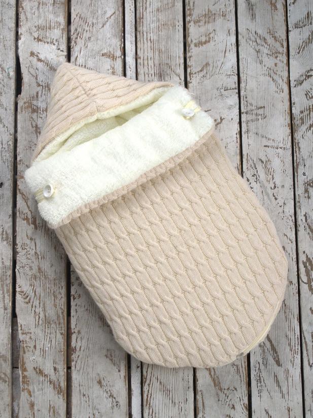 Зимний вязаный конверт-кокон на выписку, Magbaby