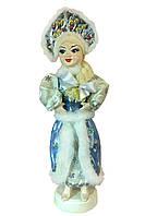 Новогодняя игрушка Снегурочка на подставке в голубом наряде, 55 см