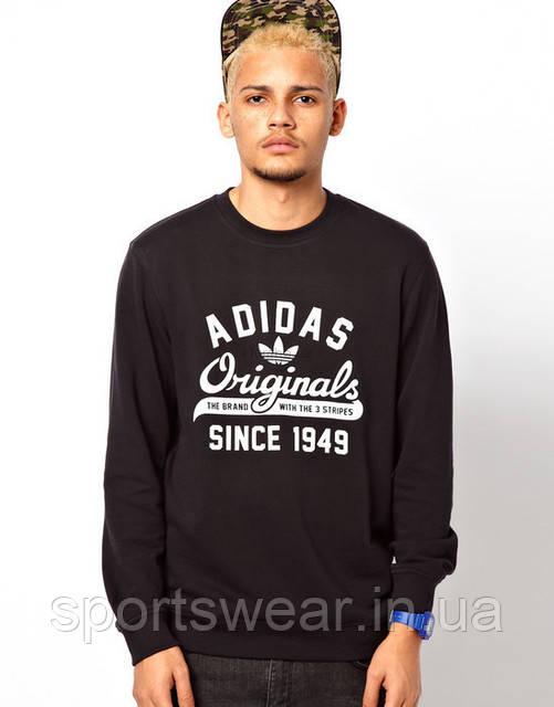 738a751d180f Свитшот Черный мужской с принтом Адидас Ориджинал Adidas ( Адидас )  Originals | Кофта