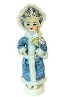 Новогодняя игрушка Снегурочка на подставке в голубом костюме, 55 см