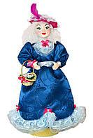 Кукла сувенирная на подставке в фиолетовой шляпе, 50 см