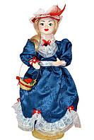 Кукла сувенирная на подставке в красной шляпе, 50 см