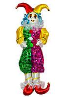 Клоун фиолетово-зеленый, 55 см