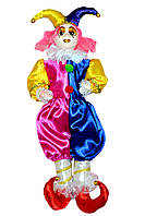 Клоун сувенирный, розово-синий, 55 см