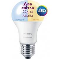 Лампа PHILIPS LED Scene Switch А60 9,5-60W 3000К/6500К E27 НОВИНКА!
