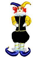 Клоун в бархатном наряде, 55 см