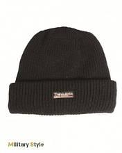 Вязаная шапка с утеплителем Thinsulatе, black