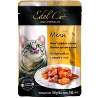 Edel Cat Курица с уткой в желе (пауч) 100 гр.