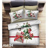 """Комплект постельного белья ALTINBASAK Сатин 3D """"abt 34"""" Евро"""