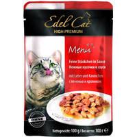 Edel Cat Печень и кролик в соусе (пауч) 100 гр.