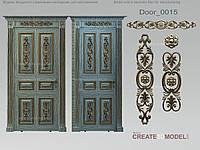 Резные элементы на межкомнатную дверь. Д 006