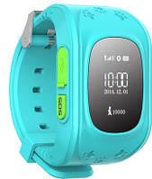 Детские часы с GPS-трекером Smart Baby Watch Q50 light blue