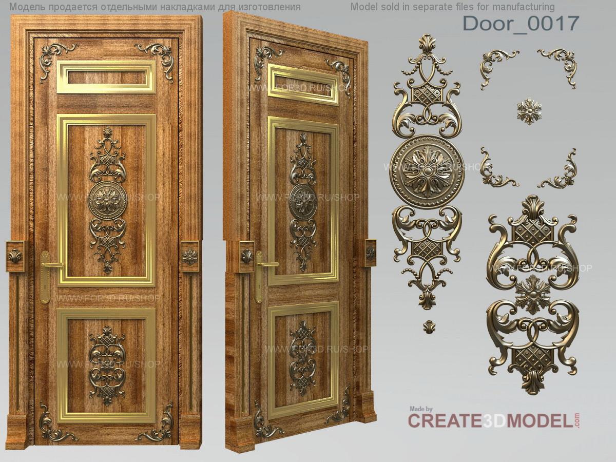 Резные декоры из дерева для двери. Д 008