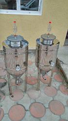 Цкт цилиндроконическая емкость, из пищевой нержавейки, для сбраживания сусла.
