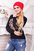 Зимняя вязаная женская шапка