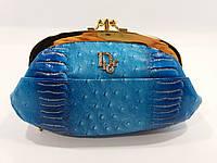 Косметичка женская кожаная Dior 916 голубая, расцветки в наличии