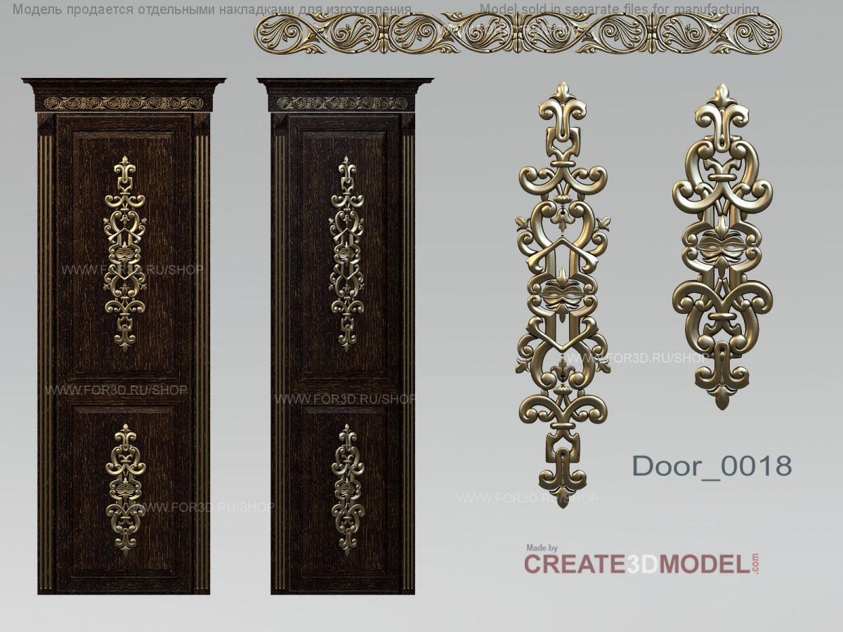 Резные декоративные элементы из дерева для дверей. Д 009