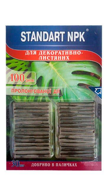Удобрение в палочках для декоративно-лиственных NPK Стандарт