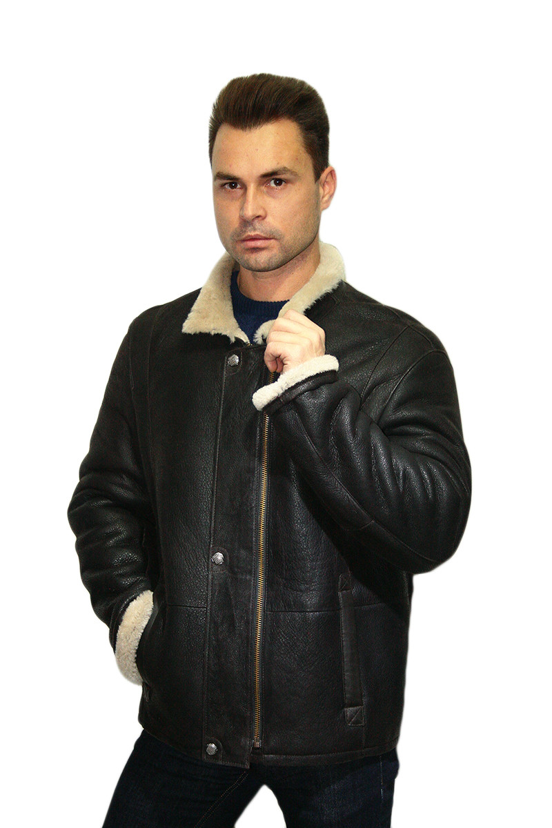 Дубленка  мужская Oscar Fur  309   Коричневый