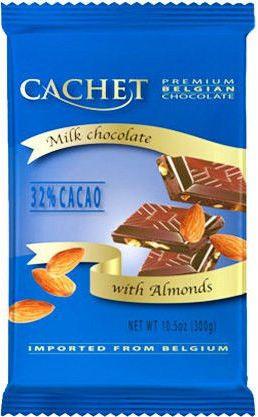 Шоколад Cachet 300г мол миндаль 32%