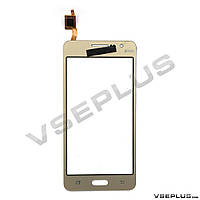 Тачскрин (сенсор) Samsung G531 Galaxy Grand Prime, золотой