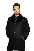 Дубленка мужская, удлиненная, из натурального сырья. Воротник - классический /  sheepskin coat for men 340, фото 1