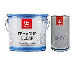 Лак полиуретановый TIKKURILA TEMADUR CLEAR износостойкий, 4,5+1,5л