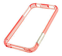 Бампер iPhone 4 More Gem Lucent св.розовый