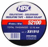 Изоляционная лента 19mm x 10m, черная ПВХ VDE 52100 PROFI (HPX)