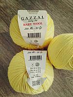 Gazzal Baby Wool - 833 светло-желтый
