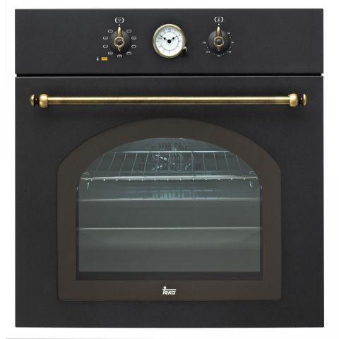 Духовой шкаф Teka HR 750 (Rustica) черный, ручки латунь 41564013