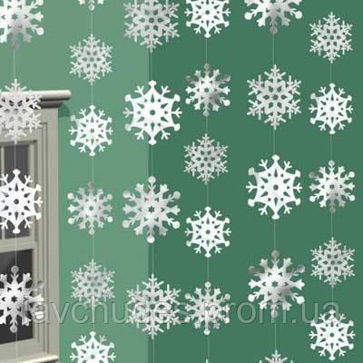 Подвески- шторочка, гирлянда новогодняя, новогоднии Снежинки.
