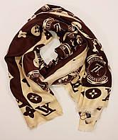 Модный палантин Louis Vuitton коричневый
