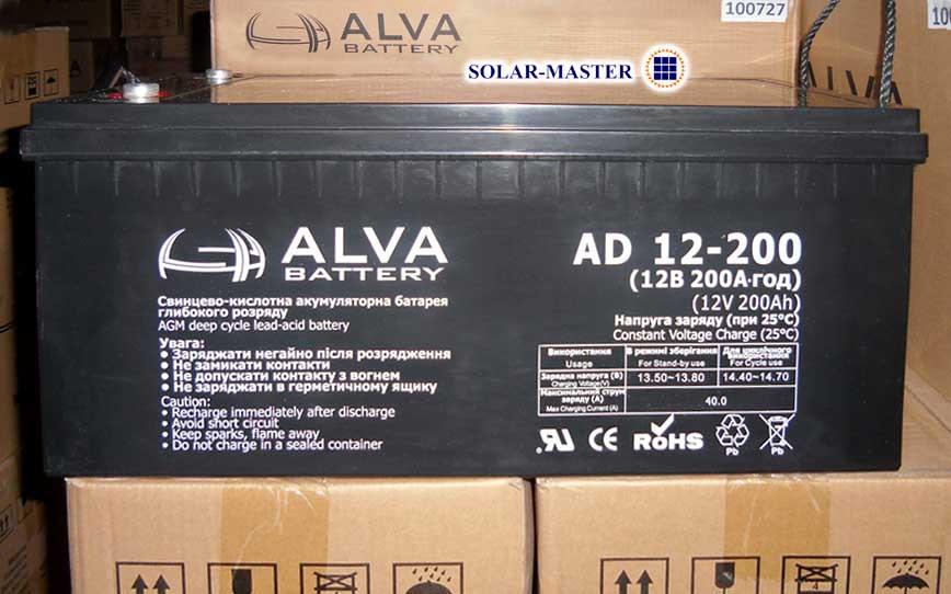 Свинцово-кислотный аккумулятор ALVA AD12-200Ач