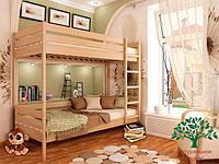 """Двухъярусная кровать """"Дуэт"""" из массива бука 90*200, Эстелла (Украина)"""