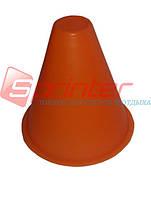 Фишка напольная для роллеров. Высота 9 см. Оранжевая.