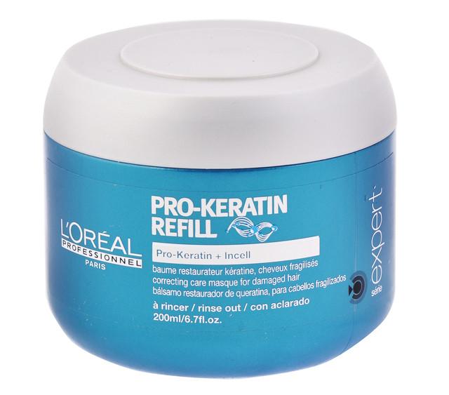 """Восстанавливающая и укрепляющая маска с кератином """"L`Oreal"""" Pro-Keratin Refill (200ml)"""