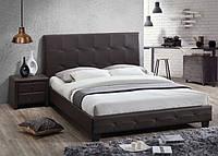 """Кровать двуспальная """"Хьюстон"""" 160*200, шоколад, Domini"""