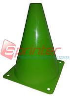 Фишка для разметки дистанции в форме конуса. 18 см.* 11,5 см. Зеленая.
