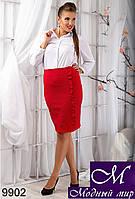 Женская красная юбка с воланами (48, 50, 52, 54) арт. 9902