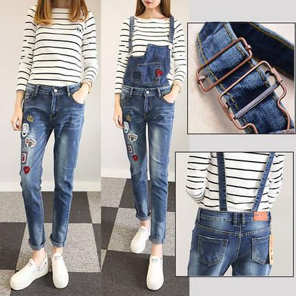 Комбинезон женский джинсовый , фото 2