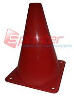 Фишка для разметки дистанции в форме конуса. 18 см.* 11,5 см. Красная.