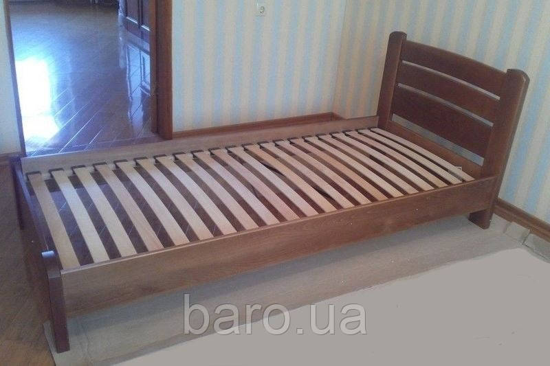 """Кровать односпальная """"Венеция Люкс"""" из массива бука 90*200, Эстелла (Украина)"""