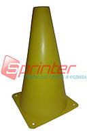 Фишка для разметки дистанции в форме конуса. 18 см.* 11,5 см. Желтая.