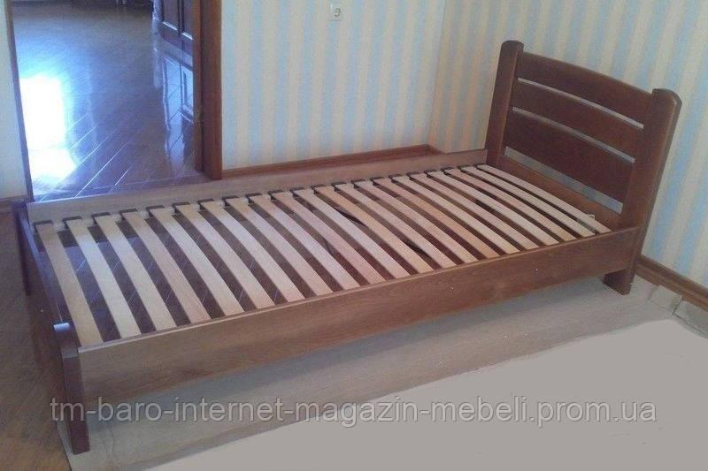 """Кровать односпальная """"Венеция Люкс"""" из щита бука 90*200, Эстелла (Украина)"""
