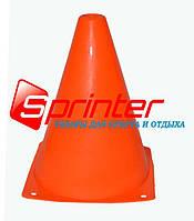 Фишка для разметки дистанции в форме конуса. 18 см.* 11,5 см. Оранжевая.