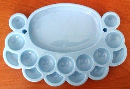 Органайзер для бісеру овальний на 16 ячейок (Білий)